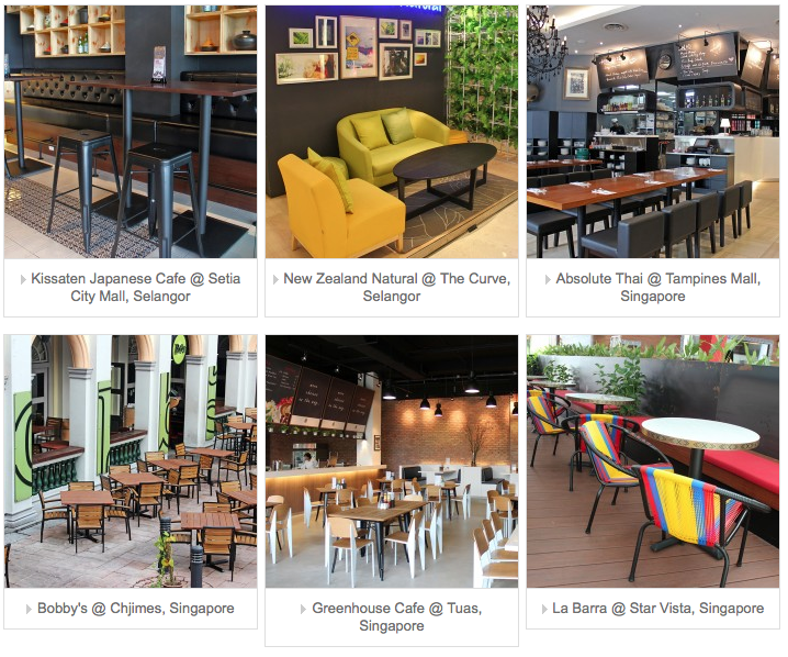 contract furniture singapore portfolio cafe and restaurant furniture